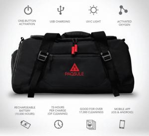 Esta mochila para el gimnasio limpia tu ropa y equipo de entrenamiento