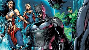 La portada de Injustice 2 #1 muestra al equipo de Batman confrontando a Brainiac