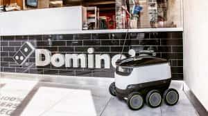 Robots comenzarán a entregar pizza Domino's