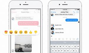 Llegan las reacciones y menciones a Facebook Messenger
