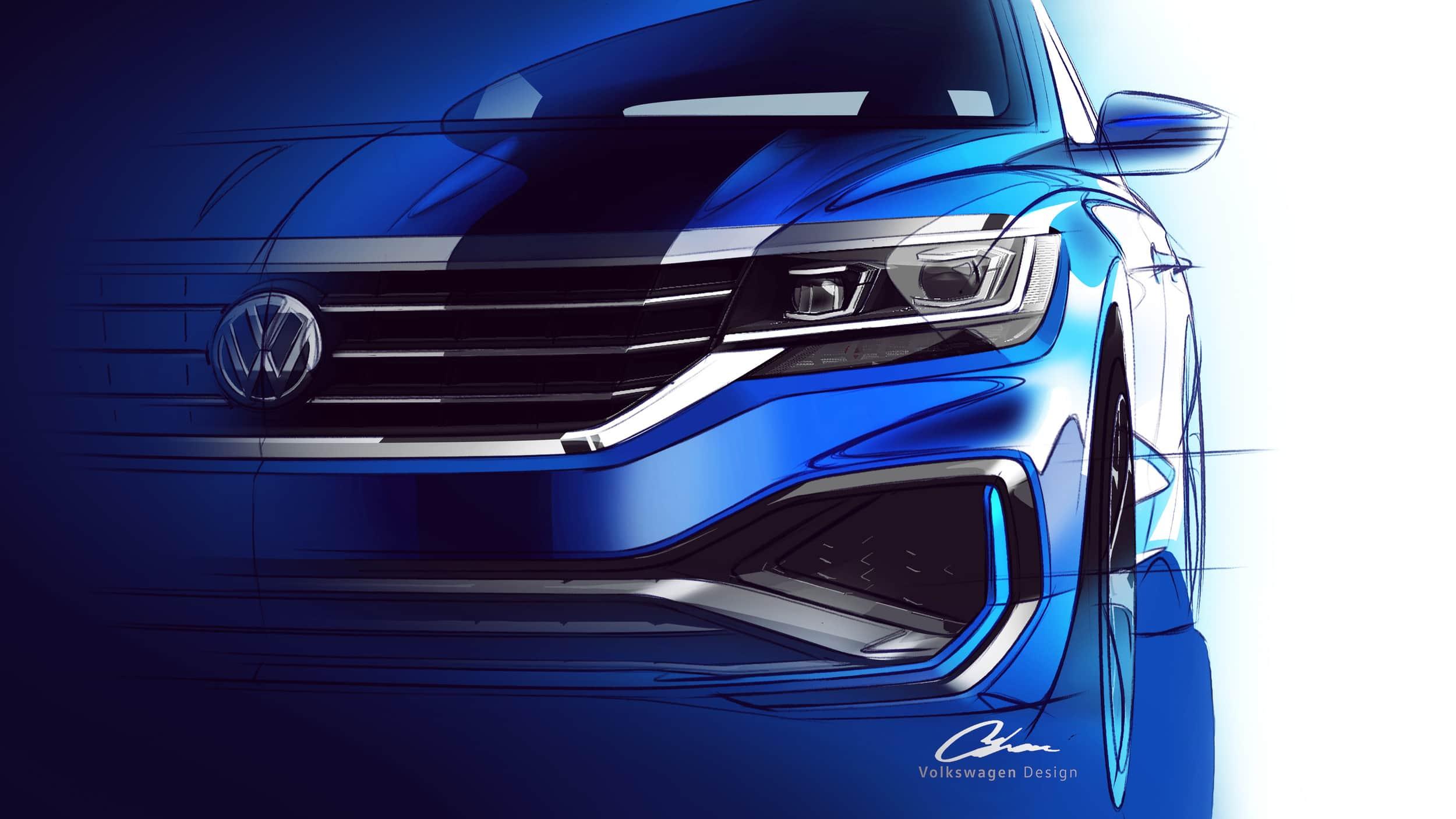 Volkswagen Passat 2020 será presentado en Detroit, primeras imágenes
