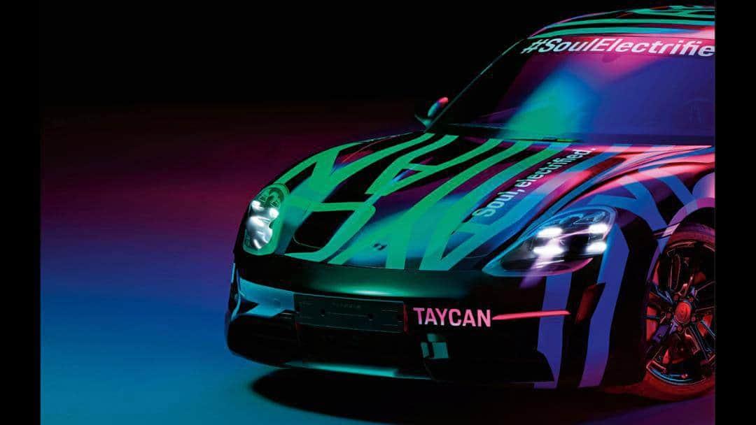 Nuevas fotos teaser de Porsche Taycan