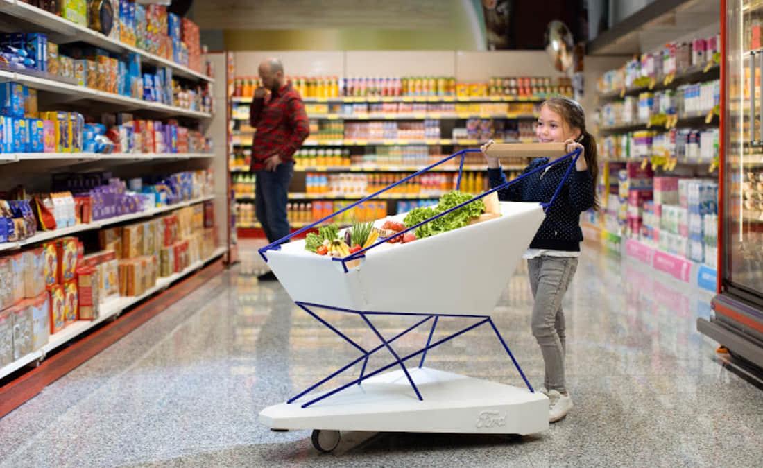 Ford crea el carrito de supermercado más inteligente