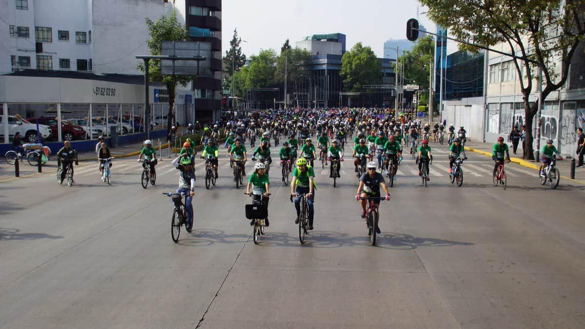 Celebran 12° aniversario del programa 'Muévete en bici'