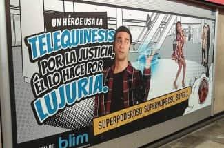 Piden quitar la publicidad de Blim en el metro por promover el acoso sexual