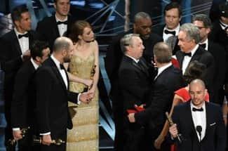 Así se vivió el error en la premiación de Mejor Película en los Oscar