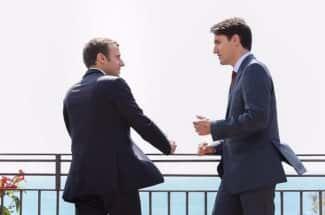Este encuentro entre Justin Trudeau y Emmanuel Macron está levantando suspiros en Internet