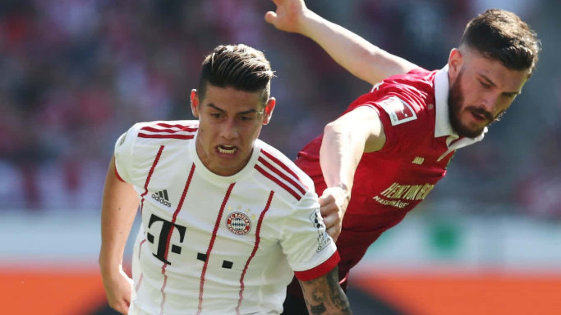 Video: Actuación de James Rodríguez en Hannover VS Bayern München fecha 31 Bundesliga