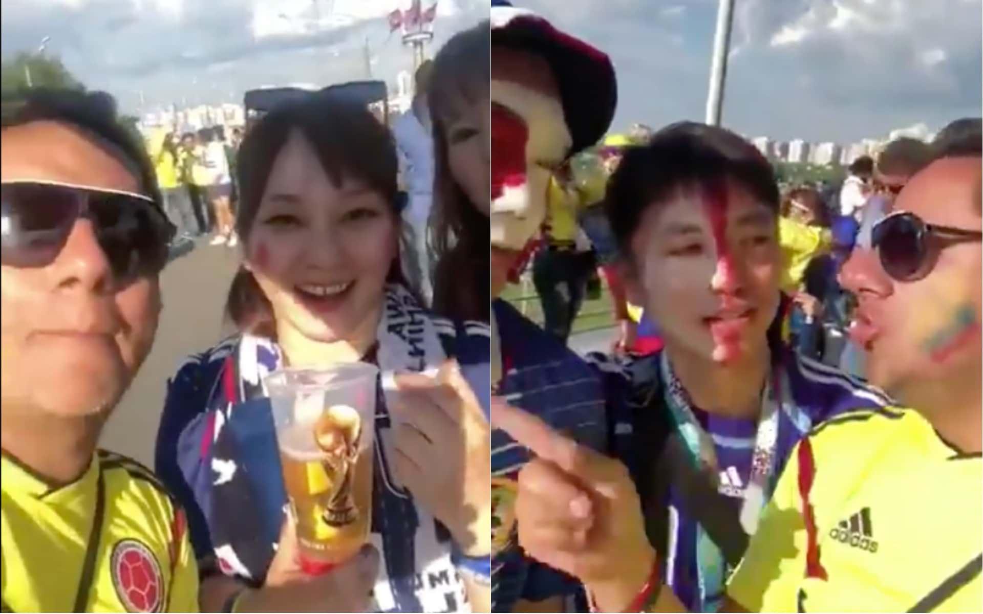 Video: Colombiano insulta a hinchas japoneses en el Mundial Rusia 2018