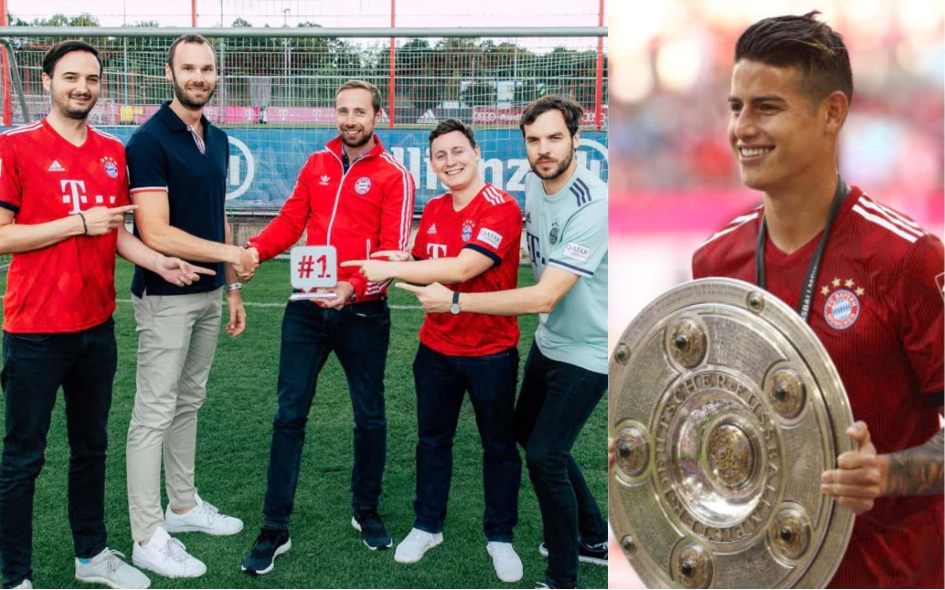 Con ayuda de James Rodríguez, Bayern München fue el mejor club de Alemania en redes sociales en 2017/18