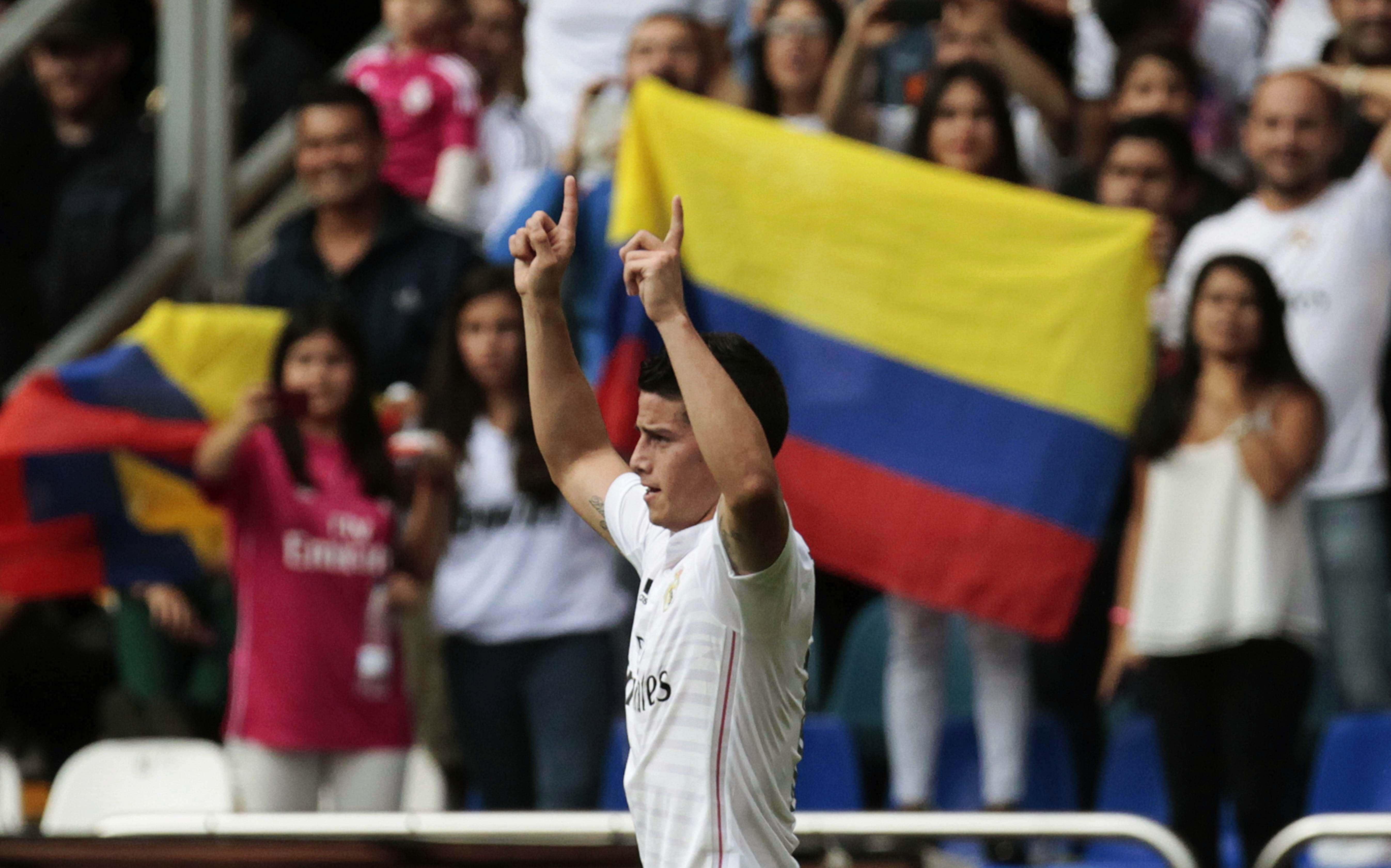 Video: En España recuerdan el primer gol de James Rodríguez con Real Madrid