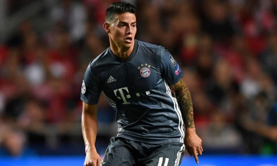 Insultos a James Rodríguez por su gesto en Benfica VS Bayern München, por Champions league 2018/19