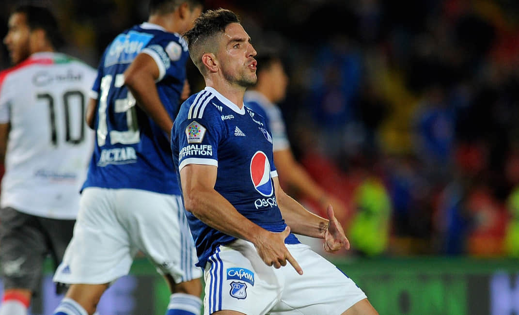 Dimayor compartió la grosera celebración de Gabriel Hauche en Millonarios VS Once Caldas