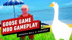 Dragon Ball Z: Kakarot - divertido mod te permite jugar como el ganso de Untitled Goose Game