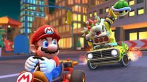 Mario Kart Tour piloto con cinta: haz 20 saltos con acelerón